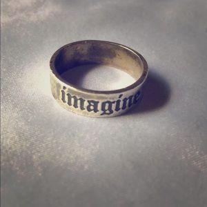 Jewelry - Vintage John Lennon Beatles Sterling Imagine Ring